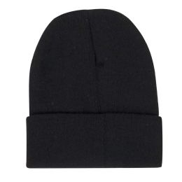 100 Bulk Adult Knit Hat Beanie Black Only