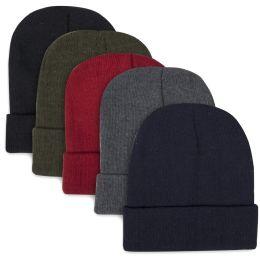 100 Bulk Children Knit Hat Beanie 5 Assorted Colors