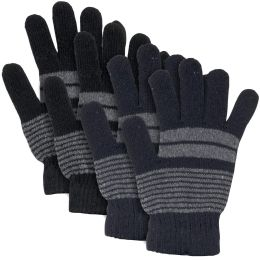 100 Bulk Adult Knitted Gloves Striped Patterns