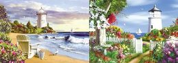 40 Bulk 3D Picture Lighthouse With Flower Garden