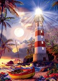 40 Bulk 3D Picture Lighthouse and Boat
