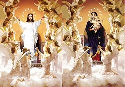 40 Bulk 3D Picture Jesus With Angels Mary With Angels
