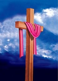 40 Bulk 3D Picture Cloth Draped Wooden Cross
