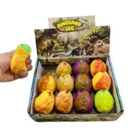72 Bulk Dinosaur Egg Squish Toy