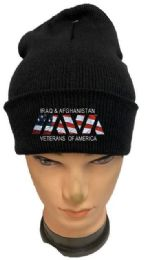 36 Bulk Iraq And Afghanistan Veterans Black Winter Beanie
