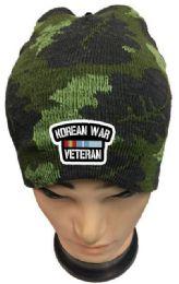 36 Bulk Korean War Veteran Camo Winter Beanie