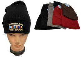 36 Bulk Operation Iraqi Freedom Veteran Mix color Beanie