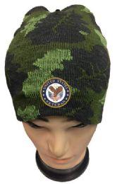 36 Bulk United State Veteran Camo Winter Beanie