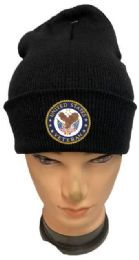 36 Bulk United State Veteran Black color Winter Beanie