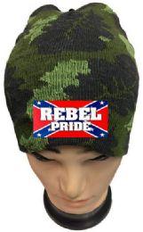 36 Bulk Rebel Pride Camo Winter Beanie