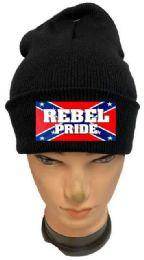 36 Bulk Rebel Pride Black Winter Beanie