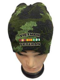 36 Bulk Vietnam Veteran Camo Color Winter Beanie