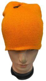 48 Bulk Orange Winter Beanie