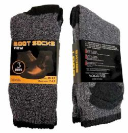 72 Bulk Mens Thermal Boot Socks