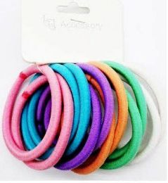 72 Bulk Assorted Colored Scrunchies