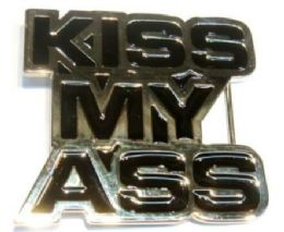 18 Bulk Kiss My Ass Belt Belt Buckle