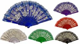 96 Bulk Hand Fan Rose With Lace