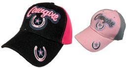 36 Bulk Cowgirl Hat With Horseshoe Star