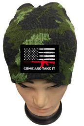 24 Bulk Come and Take Camo Beanie Winter Hat Coming