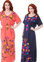 12 Bulk Rayon Plus Size Long Maxi Dresses With Sleeves