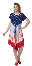 12 Bulk USA Flag Rayon Umbrella Dresses Stars And Stripes