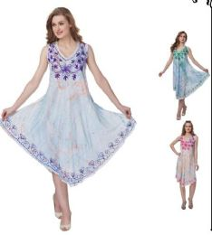 12 Bulk Sea Dye Rayon Umbrella Dresses