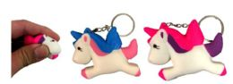 96 Bulk Unicorn Shape Squishy Keychain