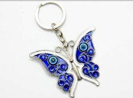 96 Bulk Evil Eye Butterfly Keychain