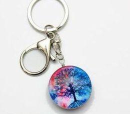 96 Bulk Tree Of Life Glass Keychain