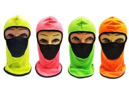 36 Bulk Ninja Face Mask Neon Color