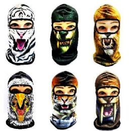 36 Bulk Animal Print Ninja Face Mask
