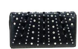 4 Bulk Montana West Bling Bling Collection Wallet Black