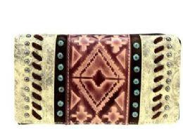 4 Bulk Montana West Aztec Collection Wallet Coffee