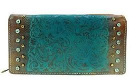 4 Bulk Montana West Embossed Collection Wallet Brown