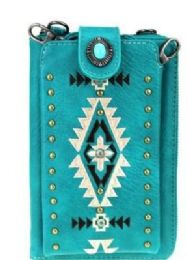 4 Bulk Montana West Embroidered Collection Phone Case Crossbody Wallet