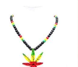120 Bulk Large Marijuana Sign Rosary Necklace
