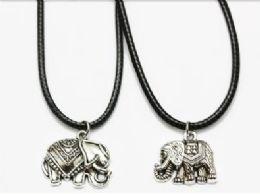 120 Bulk Elephant Cord Necklace