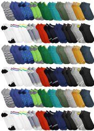 60 Bulk Yacht & Smith Assorted Pack Of Boys Low Cut Printed Ankle Socks Bulk Buy