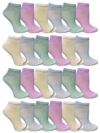 48 Bulk Yacht & Smith Women's Light Weight No Show Loafer Ankle Socks In Assorted Pastel