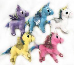 24 Bulk Plush Stuffed Animal Unicorn Assorted Colors