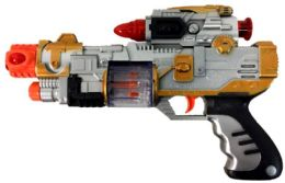 96 Bulk Light Up Flashing Toy Gun