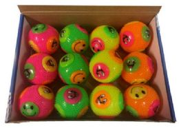 96 Bulk Emoji Bounce Ball Assorted Colors