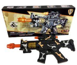 96 Bulk Camo Light Up Toy Gun