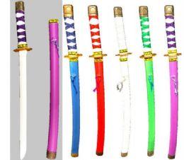 72 Bulk Plastic Ninja Swords Assorted Colorsicorn