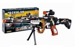 12 Bulk Camo Machine Gun With Lights And Sound