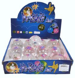 72 Bulk High Bounce Water Ball with Lights Display Box