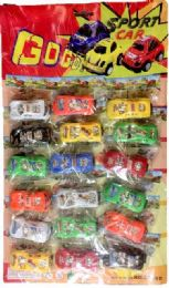 12 Bulk 18 Piece Plastic Sports Car