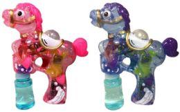 24 Bulk Horse Shaped Bubble Gun Assorted Colors