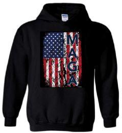 6 Bulk MAGA Black Color Hoody XXL