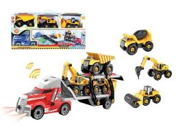 12 Bulk TRUCK CARRIER PLAY SET WITH LIGHT AND SOUND